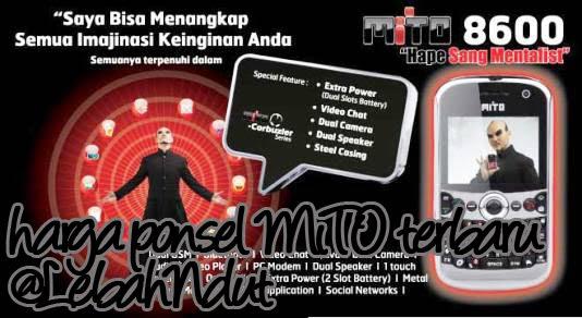 Daftar Harga Ponsel MiTO Baru Bekas Desember 2012 Terlengkap