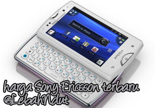 Daftar Harga Ponsel Sony Ericsson Baru Bekas September 2012 Terlengkap