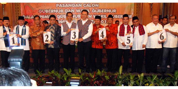 Pasangan Cagub dan Cawagub Pilkada DKI Jakarta 2012