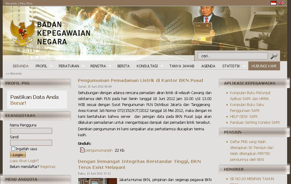 Website Resmi Badan Kepegawaian Negara www.bkn.go.id id=