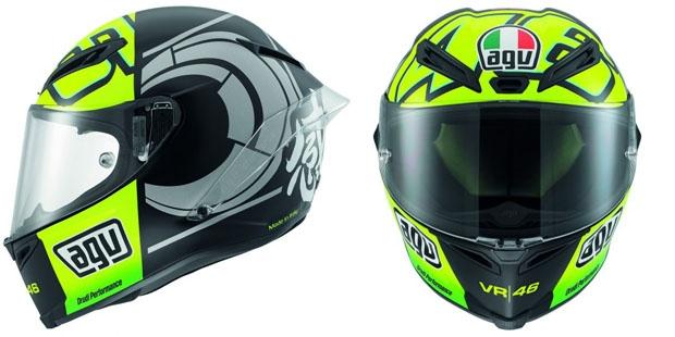 Gambar Foto Helm Valentino Rossi AVG VR 46 Terbaru