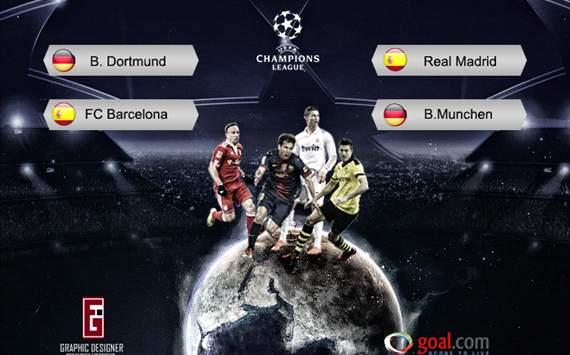 Jadwal Semifinal Liga Champions 2013 SCTV Siaran Langsung
