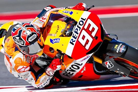 marc marquez pole position kualifikasi motogp austin 2013