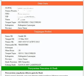 Cek SK Tunjangan Profesi Guru SKTP Sertifikasi Online