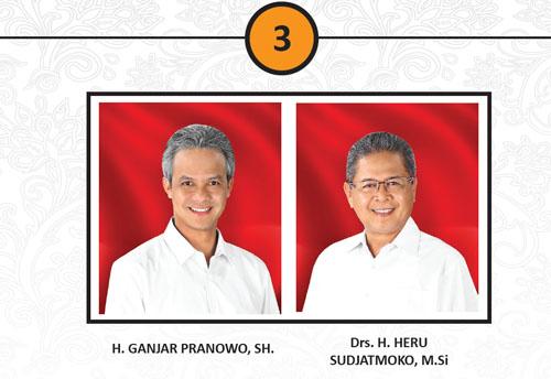 Hasil Quick Count Ganjar-Heru Pemilukada Pilgub Jateng 2013