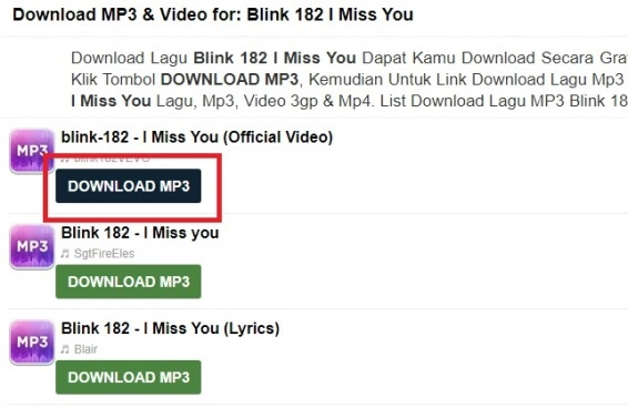 Pilih Link Free Download MP3
