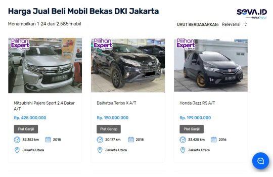 Bingung Mau Beli Mobil Bekas Jakarta, Cari di Seva.id Saja