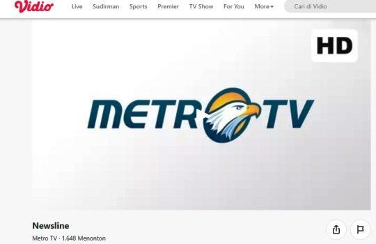 Cara Nonton Live Streaming Metro TV di Aplikasi Vidio
